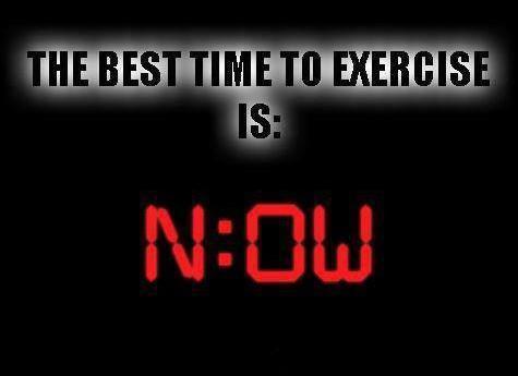 meilleur moment pour s'entraîner?