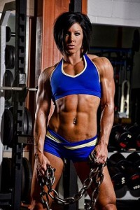 femme tres muscle