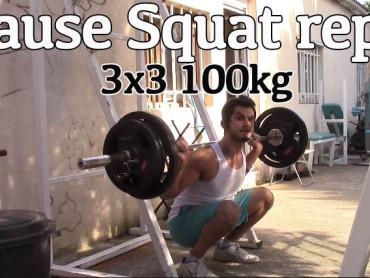 Pause squats