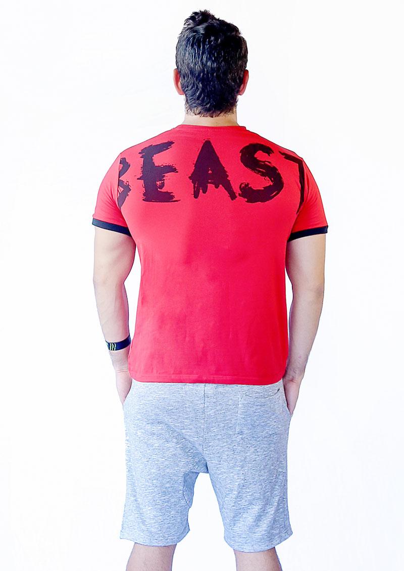 tshirt beast rouge