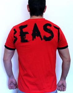 tshirt red beast